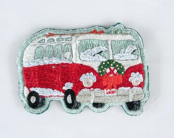 Hand Embroidered Red Bus Patch *SOLD OUT*