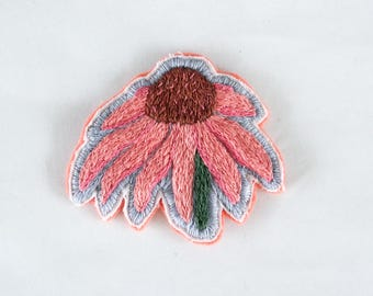 Hand Embroidered Flower Patches *SOLD OUT*