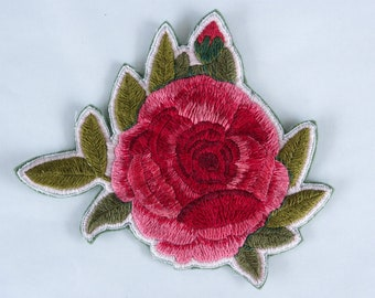 Hand Embroidered Rose Patch *SOLD OUT*