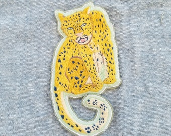Hand Embroidered Leopard Patch *SOLD OUT*