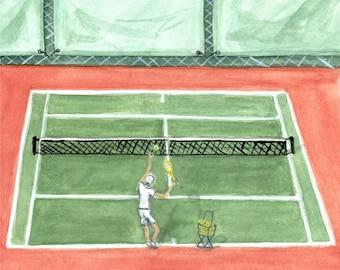 Ace! Tennis Print