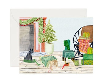 Holiday Card Set: Wrapping Cats (Set of 8)