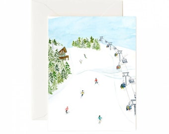 Hit the Slopes Holiday Card