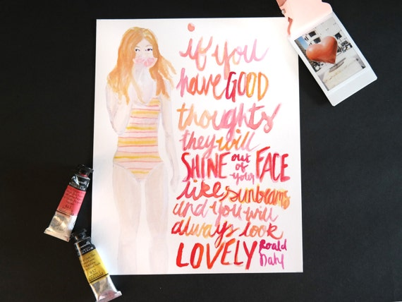 """Watercolor Wednesday Series: """"Good thoughts"""" art print of an original watercolor illustration"""