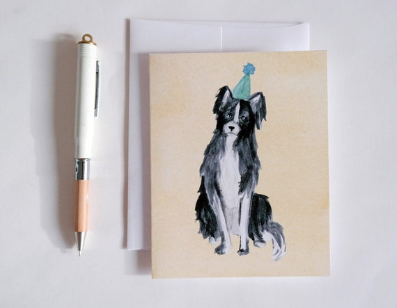 Greeting Card: Party Dog I