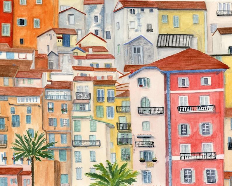 Cote d'Azure Menton France I travel art print of image 0