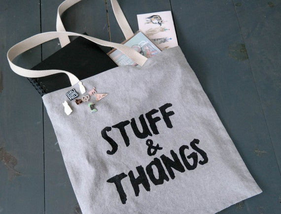 Stuff & Thangs Tote Bag - Chambray
