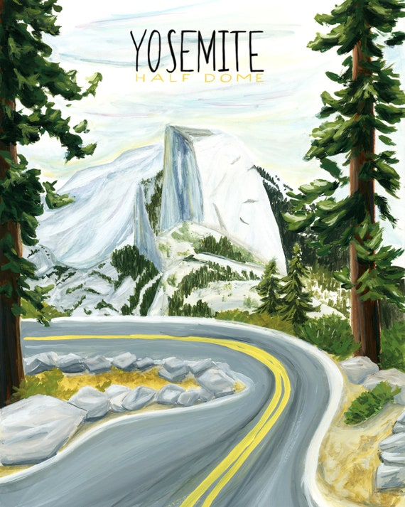 Yosemite, California National Parks Travel Poster