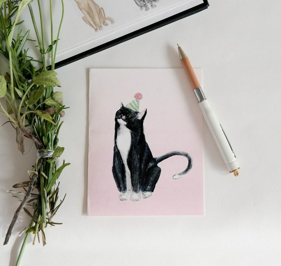 Greeting Card: Party Cat VI