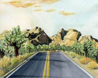 Joshua Tree National Park Travel Poster
