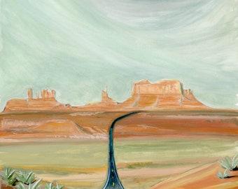 Monument Valley Navajo Tribal Park Travel Poster