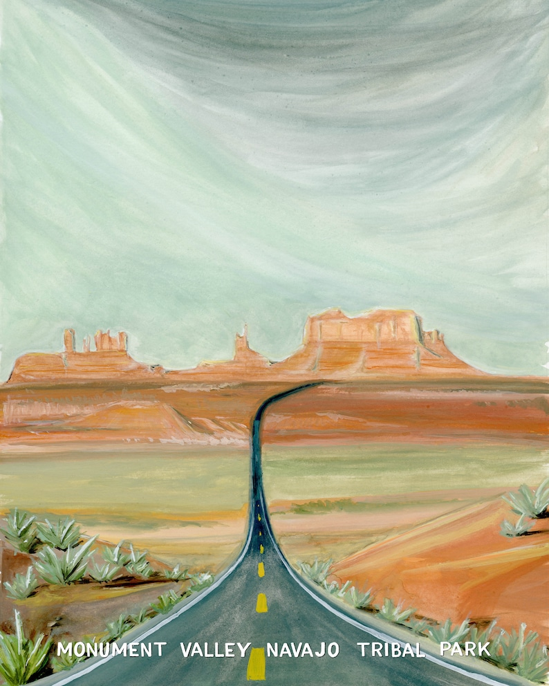 Monument Valley Navajo Tribal Park Travel Poster image 0