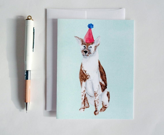 Greeting Card: Party Dog II