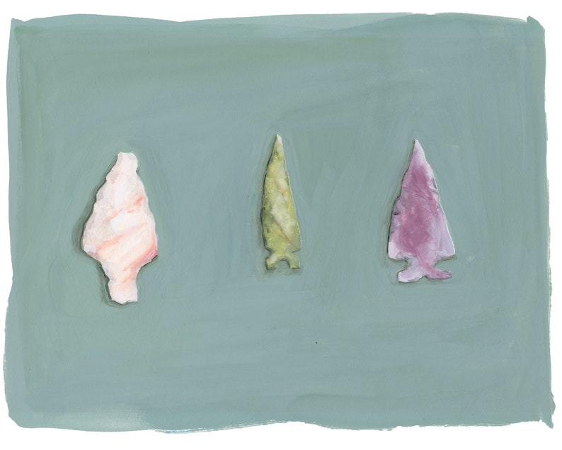 Arrowhead Collection Watercolor Print image 0