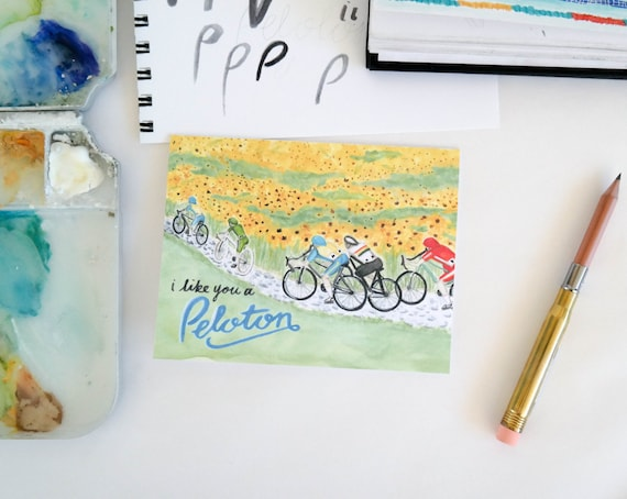 Varsity Greeting Card: Cycling