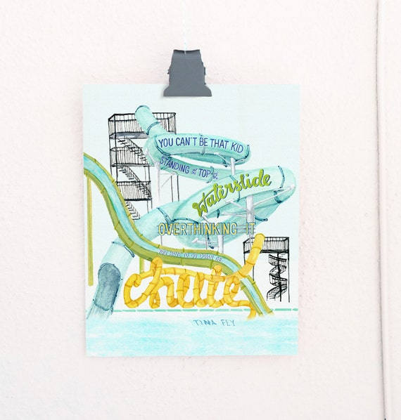 The Waterslide Lettered Print