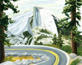 Yosemite National Park Travel Poster