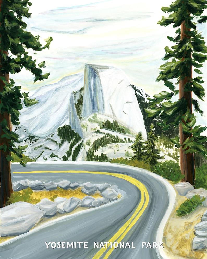 Yosemite National Park Travel Poster image 1