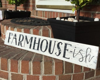 Farmhouse ish Rustic primitive vintage style country kitchen sign