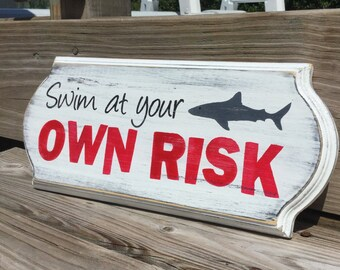 Shark Sign Nautical Nursery Beach and Coastal Decor