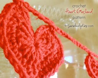 Crochet Heart Garland Pattern - INSTANT DOWNLOAD - Crochet Pattern PDF
