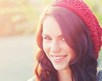 Women's Crochet Slouchy Hat - Slouch Hat - Street Wear - Women's Beanie - Slouchy Beanie Hat - Vintage Style - Boho Beanie - Color Choice