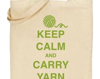 Keep Calm and Carry Yarn - Olive Green - INSTANT DOWNLOAD - Digital Download JPG