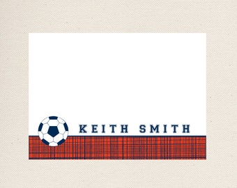 Soccer Note Cards, Personalized