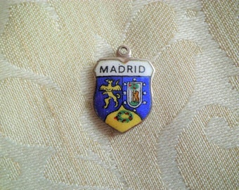 SC5193 4 Spain Charms Antique Silver Tone 2 Sided Map of Spain