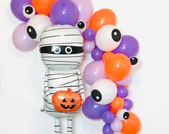 Monster Balloon Garland, Eyeball Balloon Garland, Mummy Balloon, Halloween Balloons Eyeball Balloon, Monster Party, Little Monster, Eyeball