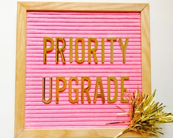 Add on PRIORITY MAIL Upgrades :)