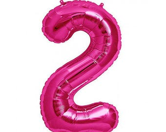 Pink 2 Balloon, 2nd Birthday Photo Props, Pink Number 2, 2 Balloon, Number 2, Pink 2nd Birthday, 2nd Birthday Prop,Two Prop,Two