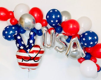 4th of july balloons 4th of july decor 4th of july party Jumbo 32 4TH OF JULY ice pop balloon Summer Party Fourth of july balloons