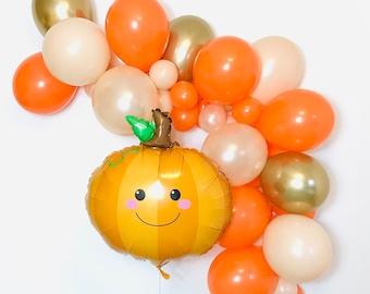 Little Pumpkin Birthday, Pumpkin Balloons, Pumpkin First Birthday, Pumpkin Baby Shower, Little Pumpkin Pumpkin Balloon Garland Pumpkin Party