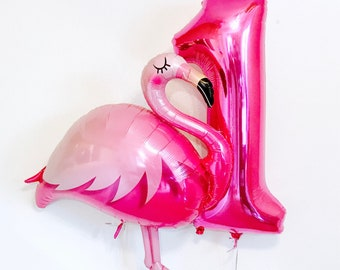 Flamingo First Birthday, Flamingo Birthday, Flamingo Balloon, First Flamingle, Pink Number 1 Balloon, Flamingo Birthday Party, New Flamingo