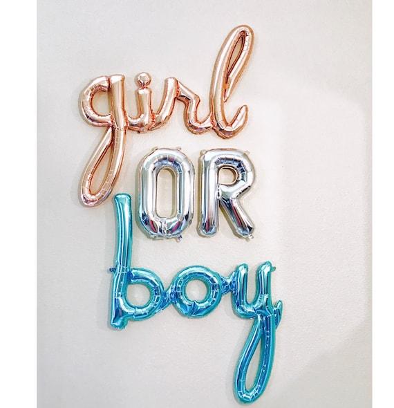 Girl Or Boy Balloons Boy Or Girl Balloon Girl Script Etsy