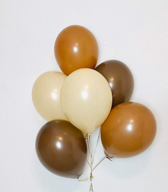 Mocha Balloons Teddy Bear Shower Boho Safari Teddy bear Birthday Boho Balloon Brown Balloons Cocoa Balloons, Teddy Bear party