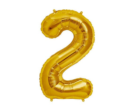 GOLD Number 2 Balloon 2nd Birthday Photo Prop Balloons Bday Party Two Theme2nd BalloonTurning 22 Years Old