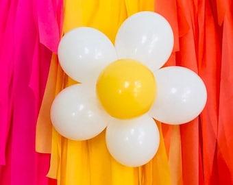Daisy Balloon, Daisy Flower Balloon, Daisy Balloon Kit, Daisy Party, Boho Daisy, Retro Balloons, Flower Power, 60's Party, 70's, Girl Power