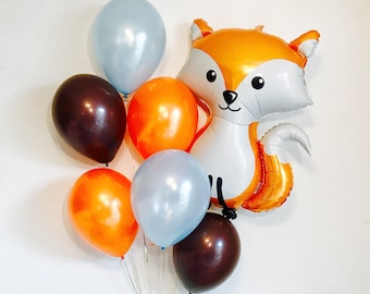 Fox 1st Birthday Party, Fox Balloon, Baby Boy 1st Birthday, Woodland 1st Birthday party, Woodland Balloons, Woodland Baby Birthday,Fox Decor