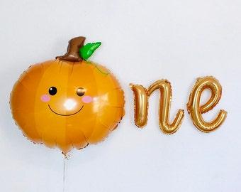 Little Pumpkin Balloons, Our Little Pumpkin Is One, Pumpkin First Birthday Banner, Little Pumpkin Birthday Party Decor, Fall First Birth