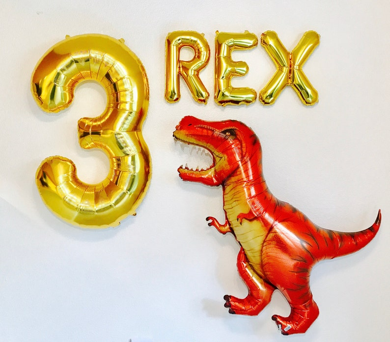 Three Rex Balloons Dinosaur Party T