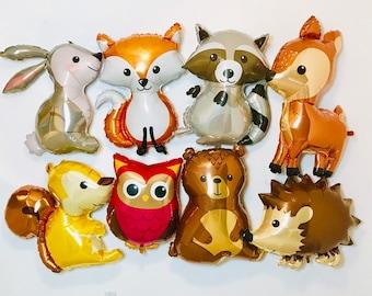 Woodland Baby Shower, Woodland Animal Balloons, Deer Balloon, Woodland Fox, Woodland Animals, Woodland Balloons, Woodland Birthday, woodland
