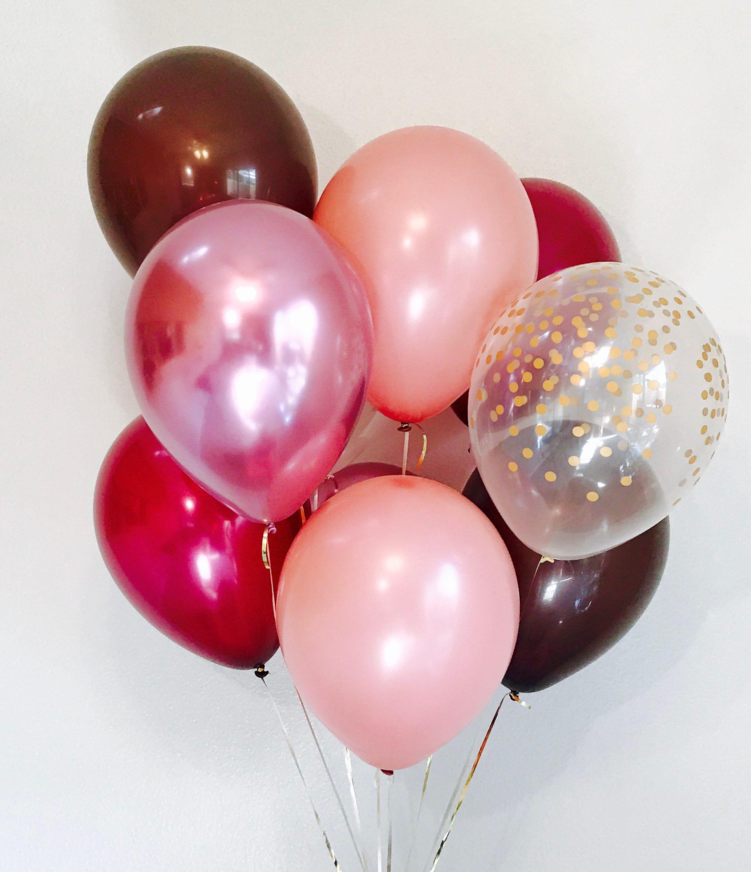 Mauve Burgundy Brown Balloons Chrome Mauve Fall Wedding | Etsy