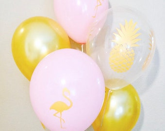 Flamingo Latex Balloon, Pineapple latex Balloon, Flamingo Birthday, Flamingo Bridal Shower, Flamingo Baby Shower, Flamingo Pineapple Party