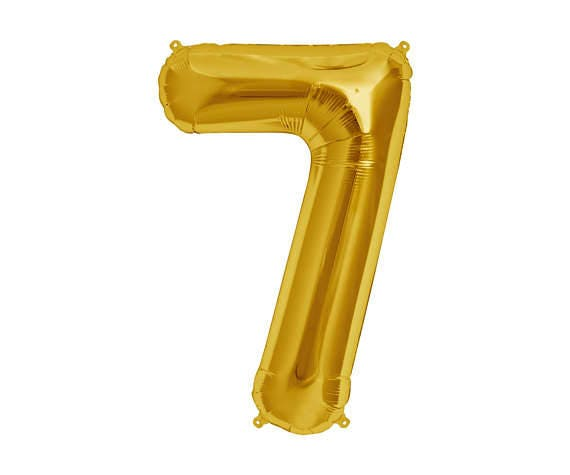 GOLD Number 7 Balloon7th Birthday Photo Prop Balloons7th
