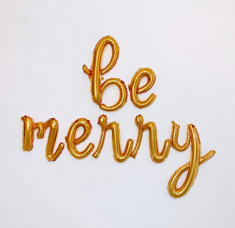 Holiday Parties Be Merry Balloons Christmas Party Be Merry Be Merry Banner Holiday Party Backdrop Merry Balloon Christmas Party Decor