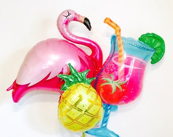 NEW Flamingo Balloon, Flamingo Party, Flamingo Pool Party, Lets Flamingle, Flamingo Bachelorette Party, Cocktail Balloon,Daiquiri Balloons,