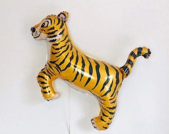 Tiger Balloon, Tiger King Theme, Tiger Birthday, Tiger Party, Tiger Theme, Safari Party, Jungle Party Decor, Jungle Cat, Tiger Decor, Tigers