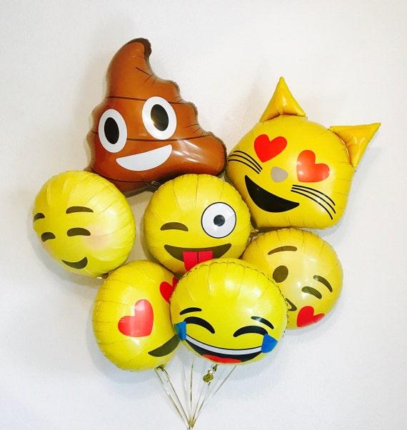 Emoji Balloon Set, Emoji Party Decorations, Emoji Balloons